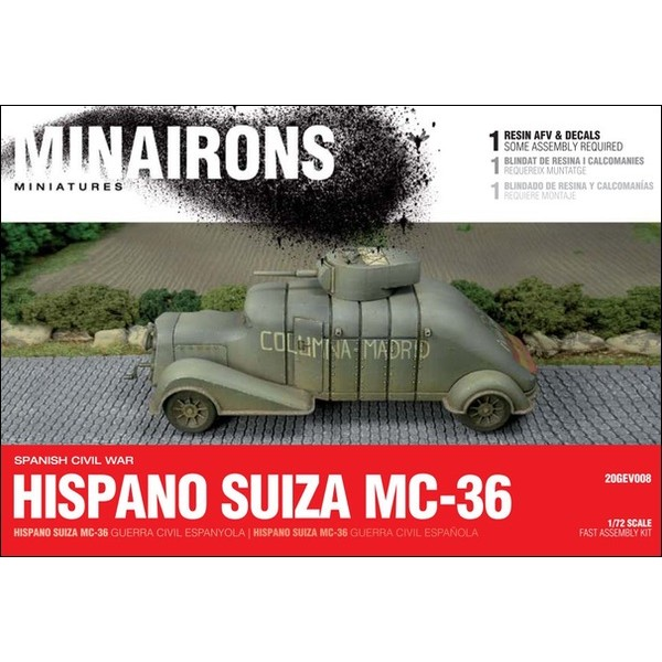 1/72 Hispano Suiza MC-36 - Boxed kit