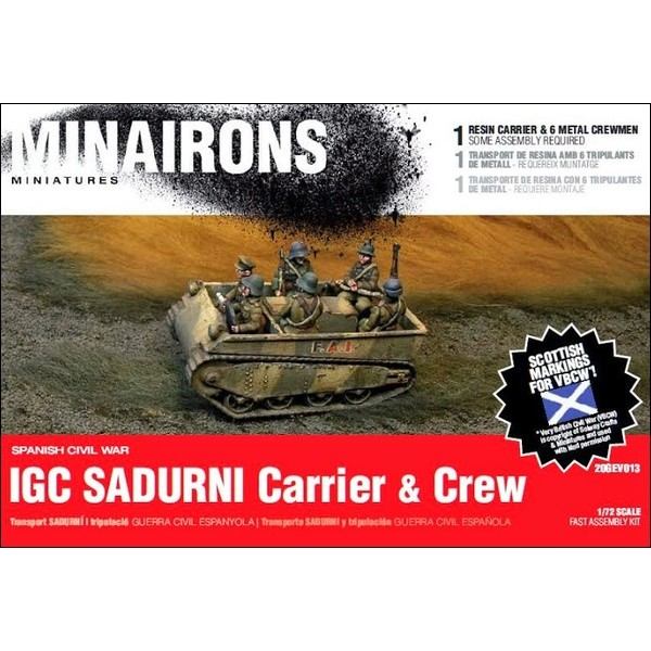 1/72 Sadurní carrier & crew - Boxed kit