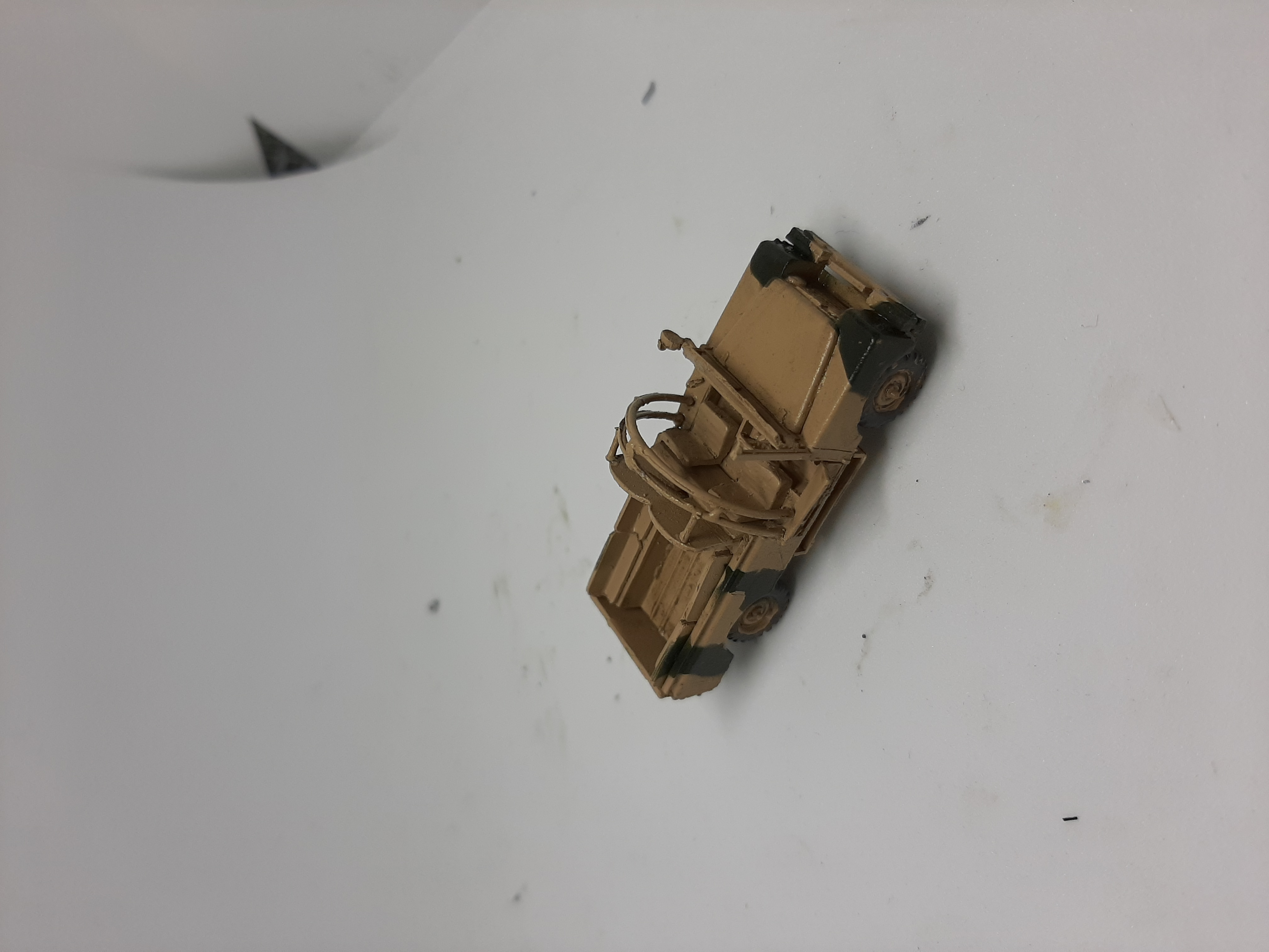 1/76 Mine protected Series 2  Land rover