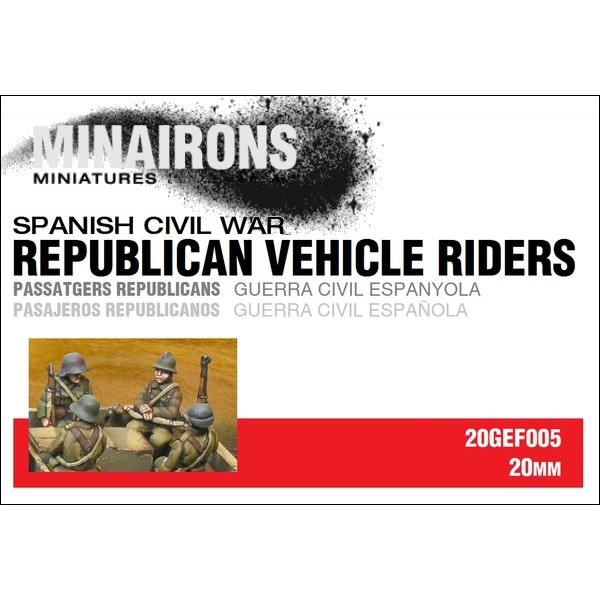1/72 (20mm) Republican Vehicle riders