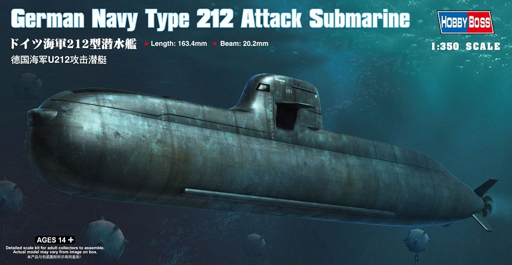 1/350 German Navy Type 212 Attack Submarine