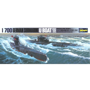 1/700 German Submarines U-Boats 7C and 9C