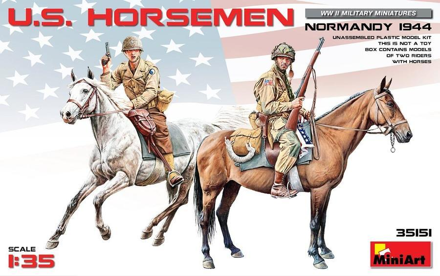 1/35 U. S. HORSEMEN. NORMANDY 1944