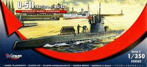 1/350 U-511 IXb Turn I w/WGr 42 German Submarine 3505