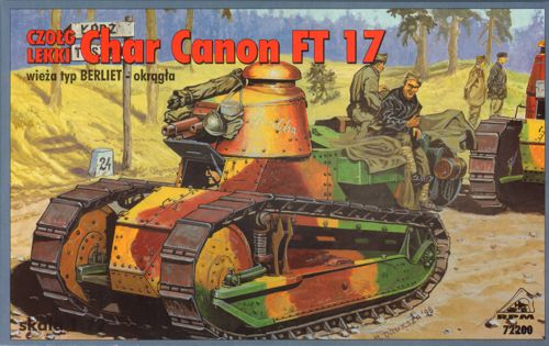 1/72 RPM Char Canon FT-17 with Berliet turret