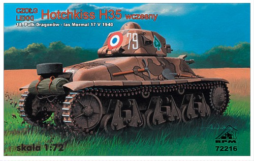 1/72 RPM Hotchkiss H35 early version, France 1940, with 37mm SA1