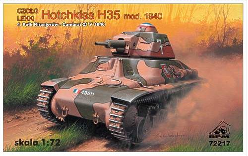 1/72 RPM Hotchkiss H35 early version, France 1940, with 37mm SA3