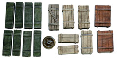 1/35 Wooden Crates Set #5