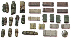 1/48 Tents, Tarps & Crates Set #2