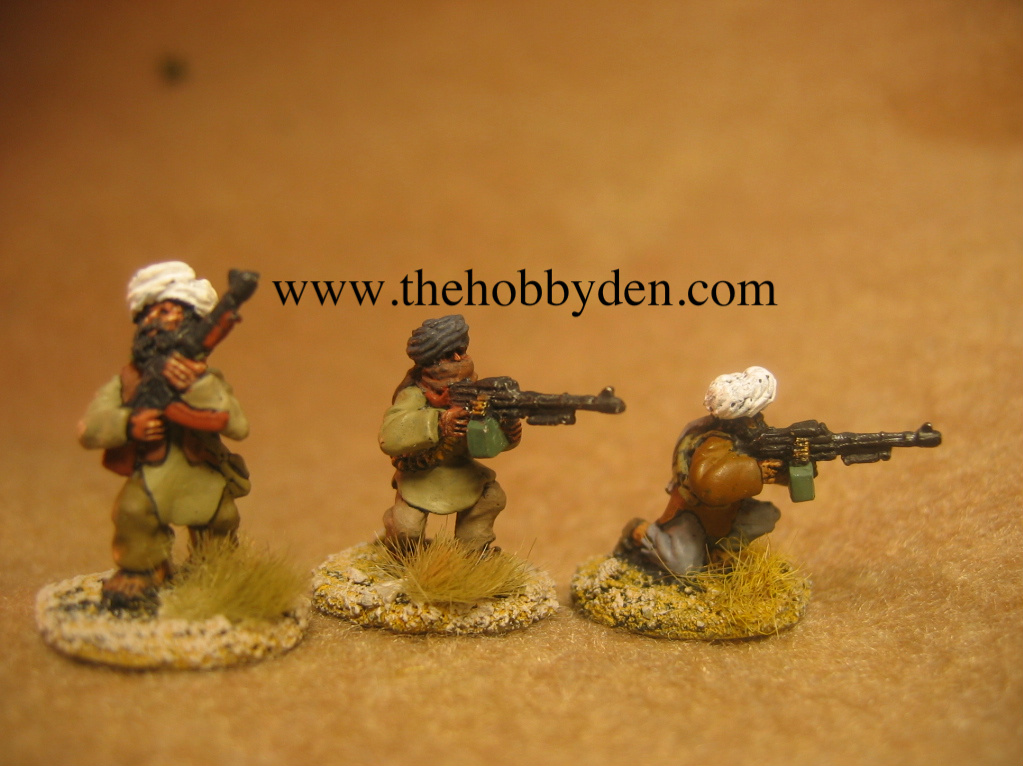3 figs advancing/firing RPK LMG's AFG 8