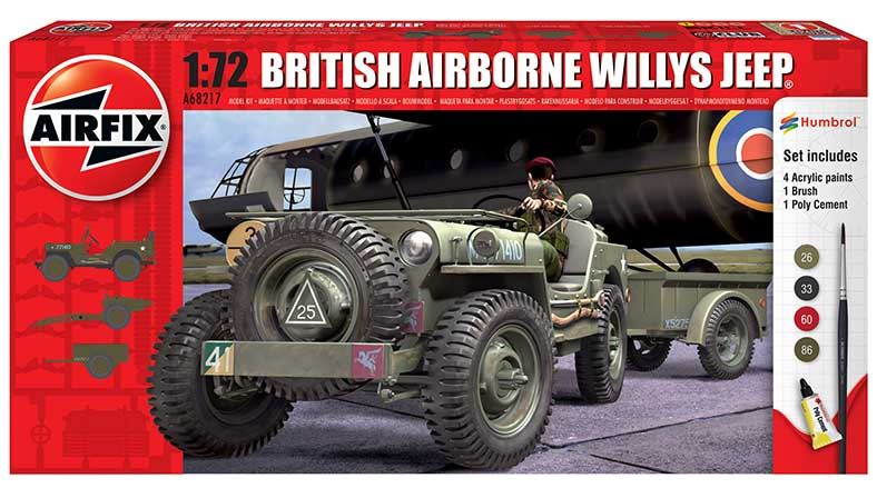 1/72 British Airborne Willys Jerp starter set