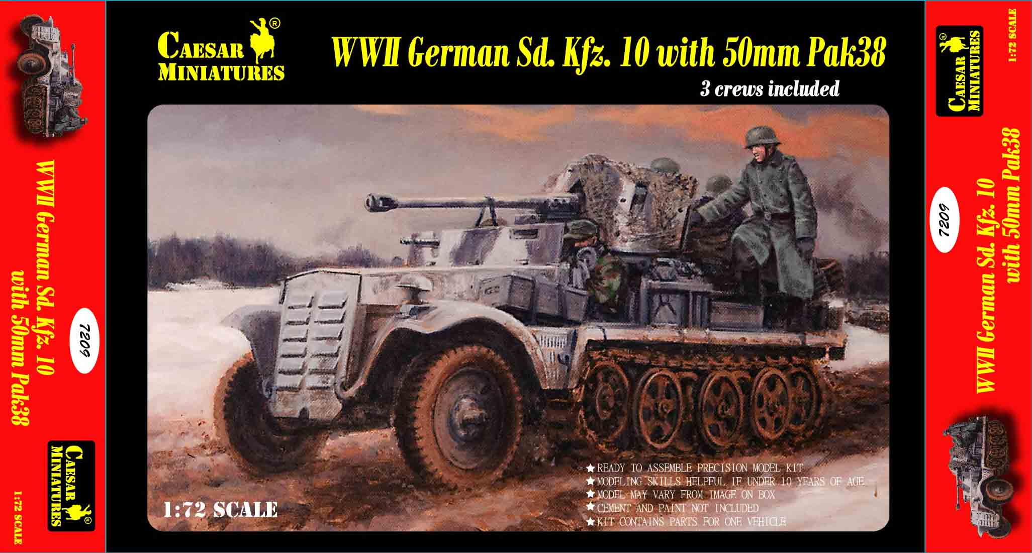 1/72 Caesar 7209 German Sd. Kfz.10 with 50mm Pak 38