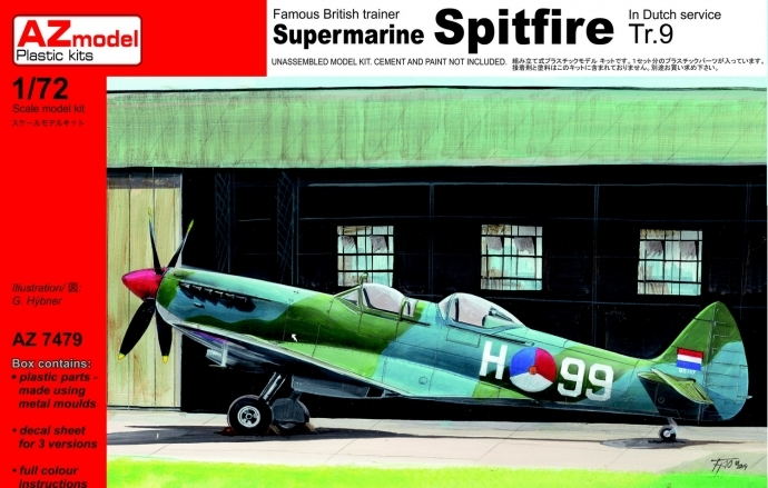 Supermarine Spitfire Tr.9 In Dutch and Irish Version - AZ7479