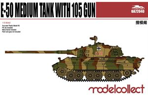 WWII E-50 Medium Tank with 105 gun UA72040