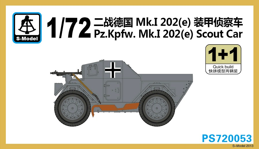 1/72 S-Model Pz.Kpfw.Mk.I 202(e)Scout Car
