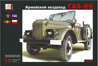 1/72 Gran Ltd GAZ-69 Soviet cross-country vehicle