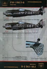 1/72 Decal Fw-190 F-8 (Luftwaffe)