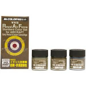 Mr Color WWII RAF Paint Set Early Period & Desert
