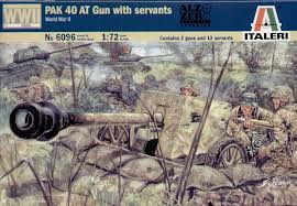 Italeri 1/72 German PAK 40 Anti-Tank Gun with crew