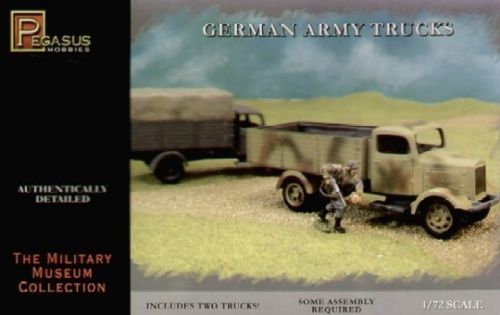 1/72 Pegasus German Army Trucks (2 per box)
