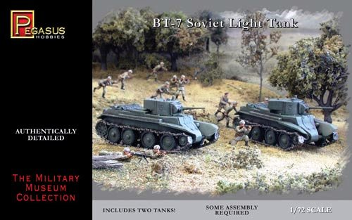 1/72 Pegasus BT7 RUSSIAN LIGHT TANK (2 PER BOX)