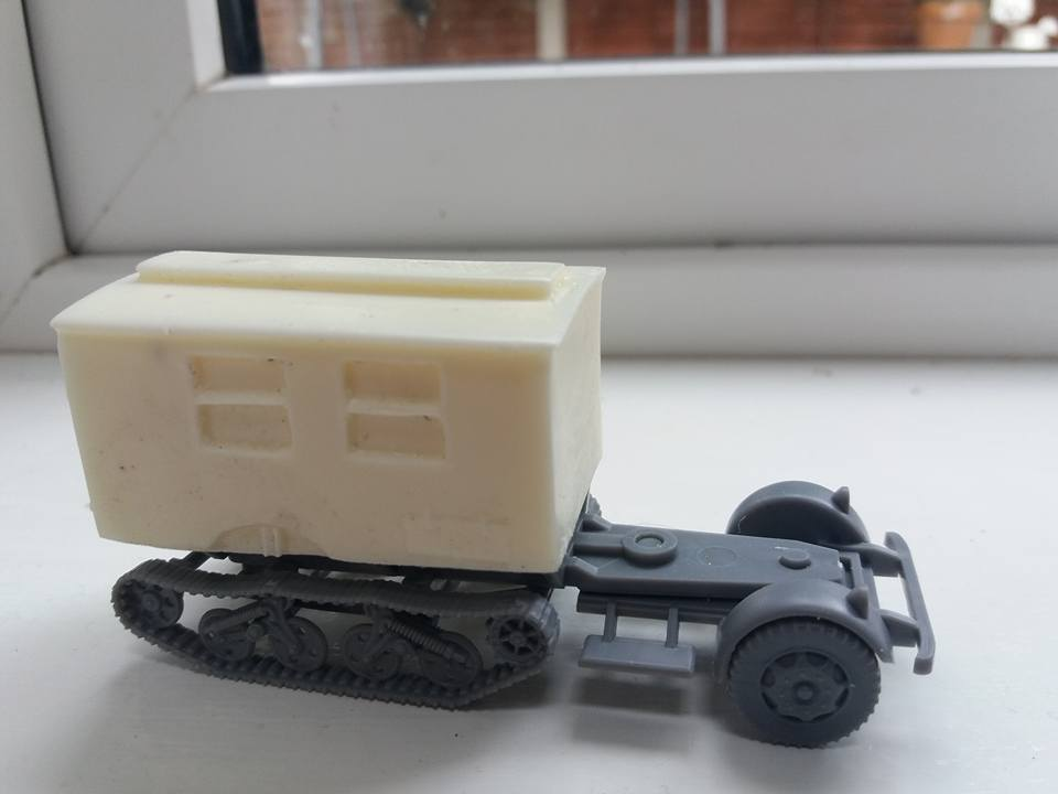 1/72 Ambulance / Command conversion for PSC German Truck