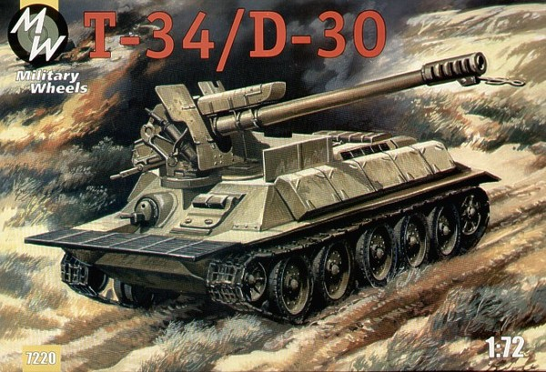 1/72  Syrian Self-propelled gun T-34/D30