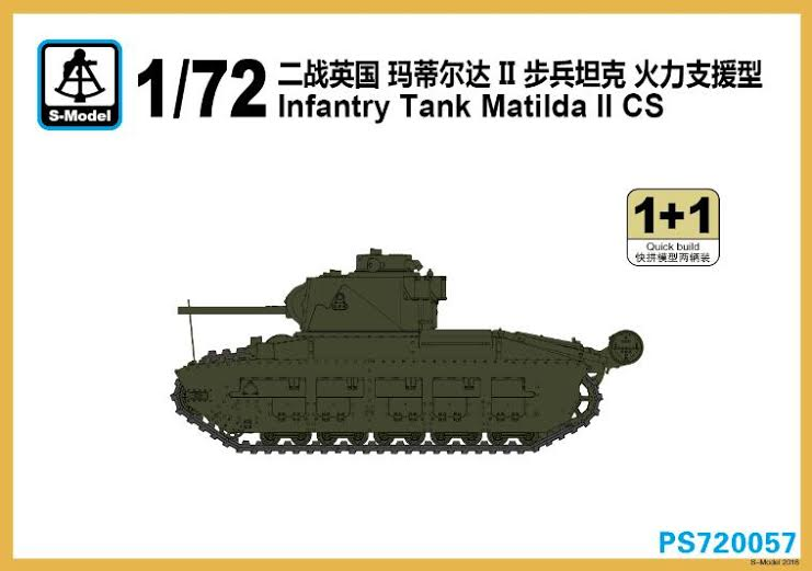 1/72ND S-Model Matilda II CS