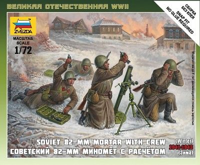 1/72 Russian 82mm Mortar & Crew